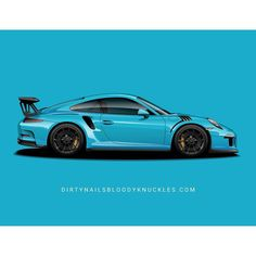 PTS blues are the best kind of blues.  Prints at Dirtynailsbloodyknuckles.com Link in profile  #porsche #911 #porsche911 #porscheart #porschelife #porschemotorsport #porschefans #carart #automotiveart #automotiveapparel #911gt3 #gt3rs #991gt3 #miamiblue #rivierablue #minervablue #mexicoblue #ptsrs #911rs
