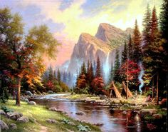 The Mountains Declare His Glory by Thomas Kinkade