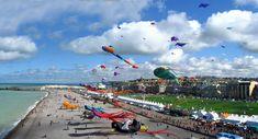 Festival de Cerf-volant du 6 au 14 septembre 2014 sur les pelouses de la plage de Dieppe.