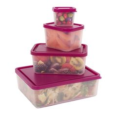 Leakproof Lunch Containers - No BPA & USA Made - Portion Control Set of 4 (Raspberry) *** CHECK OUT @ http://www.allaboutkitchenware.com/storage/100138/?fej
