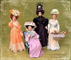 soraya dolls | CUSTOM ORDER Edwardian Lady ooak 1/12 doll by Soraya Merino