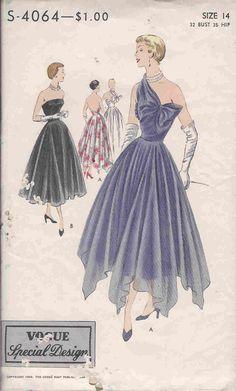 1940s vogue dress sewing pattern