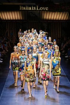 It was a meta moment at the Dolce and Gabbana show. Designers Domenico Dolce and Stefano Gabbana created a big wet kiss of a collection dedicated to their beloved Italy. A collection that had the a...