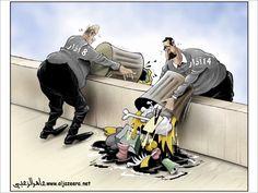 كاريكاتير: أزمة نفايات
