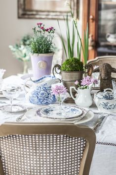Easter Table and Decorating Shelves - Cedar Hill Farmhouse