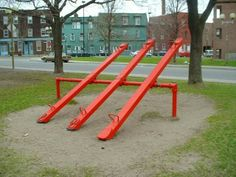 80s toys - The See-Saw!  Ahh the days when playgrounds were actually fun with a 'risky edge' to them.