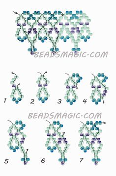 Free pattern for beaded necklace Welkin | Beads Magic 2/2. Use Seed beads 11/0 in 3 colors.