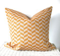 "Yellow chevron cushion yellow zig zag cushion cover 18x18"" by AUGUSTPLACEUK on Etsy https://www.etsy.com/listing/231519539/yellow-chevron-cushion-yellow-zig-zag"