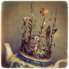 Couronne de mariée en papier, wedding crown, paper vendue,sold informations: missclara@free.fr