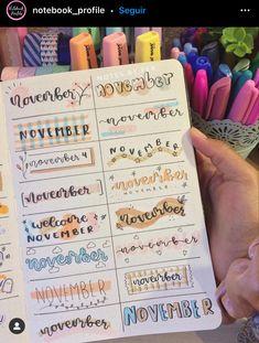 Bullet Journal Lettering Ideas, Bullet Journal Banner, Bullet Journal Notebook, Bullet Journal Ideas Pages, Bullet Journal Inspiration, Book Journal, Journals, Bullet Journal School, Bullet Journal Aesthetic