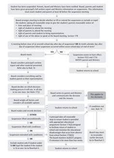 Flowchart 4: Action by board following decision to suspend.