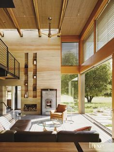 Image result for mid century modern rammed earth