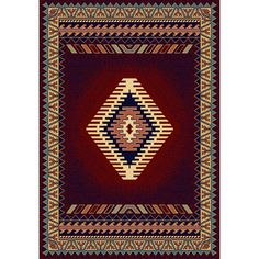 Tuscan Burgundy 7 ft. 10 in. x 10 ft. 6 in. Area Rug, Red/Ivory