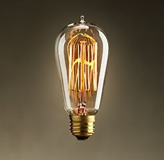 Edison bulbs, perfect in an antique lamp