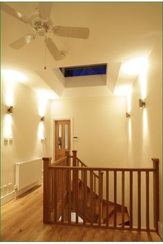 Ashmore Stairs Oak Handrail, Metal Spindles, Banisters, Refurbishment, Glass Panels, Case Study, Landing, Stairs, Restoration