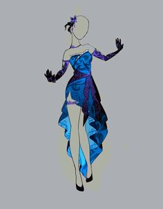 Drawing Anime Clothes, Dress Drawing, Drawing Poses, Clothing Sketches, Dress Sketches, Fashion Design Drawings, Fashion Sketches, Anime Outfits, Cute Outfits