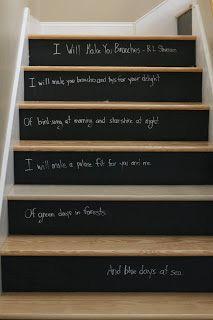 Chalkboard Stair Raisers Treppen Stairs Escaleras repinned by www.smg-treppen.de #smgtreppen