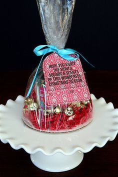 Hope you enjoy the sights, sounds and scents of this wonderful Christmas Season Gift Tag. Attach it to a Christmas candle, Christmas CD or Christmas treat for a fun friend and neighbor gift.