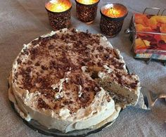 I've managed to get my mother-in-law to reveal the recipe for something … – Pastry, cakes, cookies Easy Cupcake Recipes, Norwegian Food, Frozen Yoghurt, Pudding Desserts, Pastry Cake, Christmas Baking, Let Them Eat Cake, Yummy Cakes, No Bake Cake