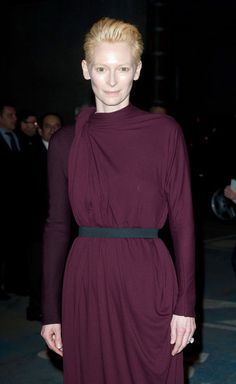 Tilda Swinton attending the Lanvin's Fall-Winter 2012-2013 Ready-To-Wear collection show held at Espace Ephemere Freyssinet during Paris Fashion Week in Paris.  (March 2, 2012 - Photo by PacificCoastNews.com