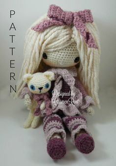 February  Amigurumi Doll Crochet Pattern by CarmenRent on Etsy ♡ lovely doll