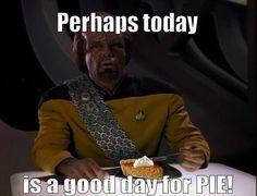 It's always #pieday :) #startrek #geek