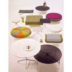 Is it a chair or beach ball? Aren't these the funnest office chairs ever? The Girard Group, first introduced in is the only furniture collection by Alexander Girard produced for Herman Miller. Trendy Furniture, Furniture Ads, White Furniture, Vintage Furniture, Bedroom Furniture, Furniture Design, Alexander Girard, Herman Miller, Home Office Decor