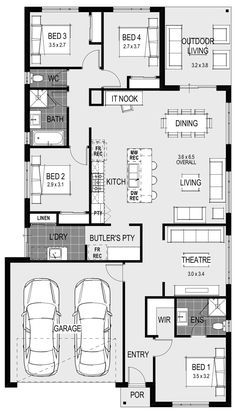 The Amelia 21 Floorplan Garage Entry, Latest House Designs, Storey Homes, Coach House, Display Homes, Building A New Home, Home Builders, Tuscany, Cool Furniture