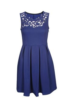 Retro Cutout Royal Blue Dress dream lookbook | Big Fashion Show royal blue dresses