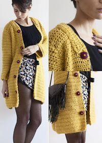Captivating Crochet a Bodycon Dress Top Ideas. Dazzling Crochet a Bodycon Dress Top Ideas. Diy Crochet And Knitting, Crochet Shirt, Crochet Jacket, Crochet Woman, Knitted Poncho, Crochet Cardigan, Crochet Clothes, Crochet Stitches, Knit Crochet