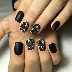 Awesome These Black Polish Nail Art Designs are really fantastic. I know only 5 Black Polish Nail Art Designs but through this i got so many Black Polish Nail Art Designs. Glad you found this post useful. Thanks for research on black nail art designs. Nail Designs 2017, Black Nail Designs, Best Nail Art Designs, Trendy Nail Art, Cool Nail Art, Nailart, Nail Art Design Gallery, Uñas Fashion, Black Nail Art