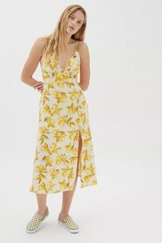 wedding guest dress summer mini Urban Outfitters Online, Lemon Print, Urban Dresses, Layered Tops, Thigh Highs, Vintage Inspired, Stylists, Man Shop, Summer Dresses
