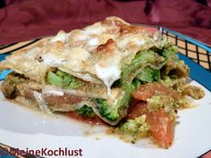 Meine Kochlust: Gemüse-Lasagne mit Brokkoli - Vegetable lasagne with broccoli