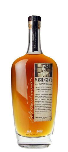 Masterson's Rye Rye Whiskey, Bourbon Whiskey, Whisky, Non Alcoholic Drinks, Fun Drinks, Pot Still, Wine And Spirits, Drinkware, Whiskey Bottle