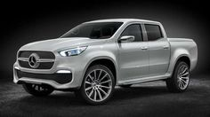 Mercedes-Benz has revealed a concept version of its new mid-size X-Class pick-up truck. As the firm'... - Mercedes-Benz