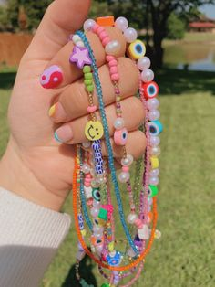 Funky Jewelry, Kids Jewelry, Trendy Jewelry, Cute Jewelry, Jewlery, Summer Necklace, Summer Jewelry, Diy Necklace, Necklaces