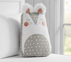 Happy Critter Decorative Pillow | Pottery Barn Kids