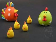 Easter chicks/ poly clay (too cute!!)