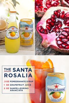 Enjoy The Life Deliziosa with this sparkling, non-alcoholic drink. Pour pomegranate syrup and grapefruit juice into your tumbler. Fill with ice and top with Sanpellegrino® Aranciata. This refreshing drink is garnished with an orange slice and is perfect for sipping on a white sandy beach under a striped umbrella. Alcohol should be consumed by people 21+.