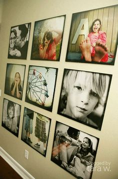 beautiful family photo wall