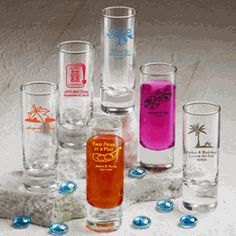 Personalized Shooter Glass Favors (214 Designs - 13 Colors) - $0.99