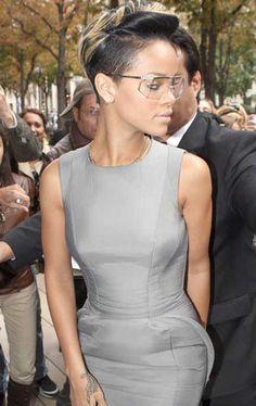 Rihanna new short hairstyle