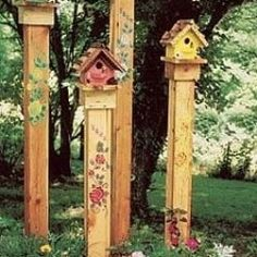 Latest Cost-Free bird house with flowers Popular You will find unlimited types … - Gartenkunst Garden Crafts, Garden Projects, Yard Art Crafts, Garden Tips, Diy Crafts, Fence Post Crafts, Decor Crafts, Wood Projects, Home Decor