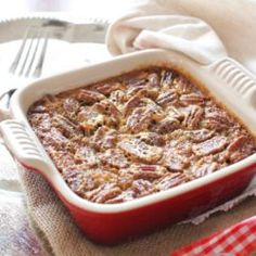 This Pecan Pie For One has all the flavors you love in a pecan pie. It's made with a buttery shortbread crust and a rich, pecan filled filling. This single serving dessert is perfectly sweet, it's filled with pecans and best of all, it's easy to make.   ZagLeft