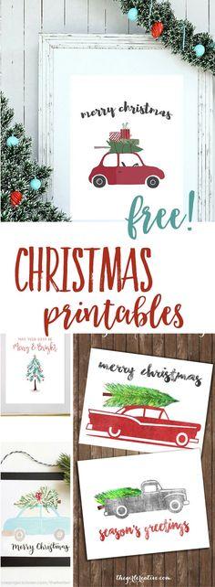 FREE CHRISTMAS PRINTABLES | #christmasdecor #wallart #budgetholidays