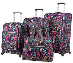 Lily Bloom Luggage 4 Piece Suitcase Collection With Spinn...