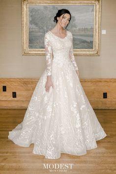 Modest Wedding Gowns, Wedding Dress Sleeves, Dream Wedding Dresses, Modest Dresses, Bridal Dresses, Dresses With Sleeves, Gown Wedding, Mormon Wedding Dresses, Lace Wedding