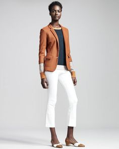 Dondi+Jersey+Schoolboy+Blazer,+Colorblock+Cashmere/Silk+Pullover+&+Cropped+Stretch-Denim+Leggings