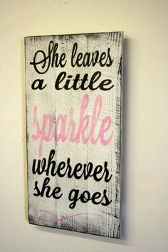 She Leaves A Little Sparkle Nursery Sign Pallet Wood Sign Shabby Chic Nursery…