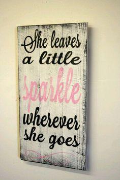 She Leaves A Little Sparkle Nursery Sign Pallet Wood Sign Shabby Chic Nursery…